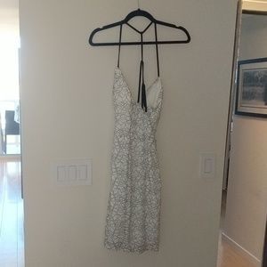 Dresses & Skirts - Black and white lace floral spaghetta strap dress